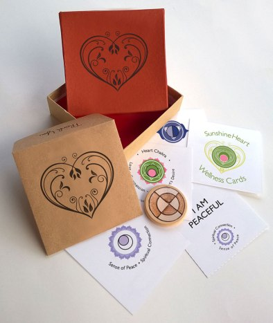 Sunshine Heart Wellness Cards created by Wendy Hurd Creatived