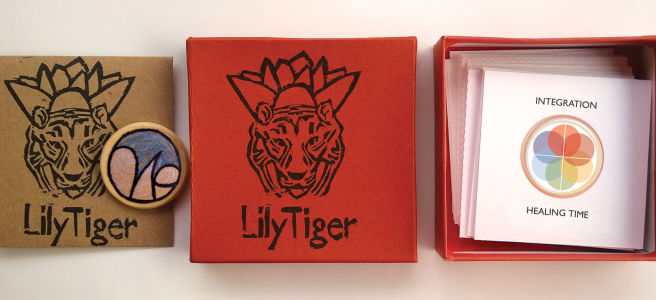 LilyTiger Intuitive Wellness Cards by Wendy Hurd Creative. Reiki healing