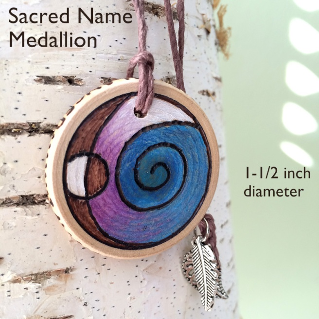 Sacred Name Healing Medallion by Wendy of LilyTiger Creative