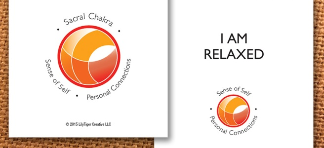 Guidance Card I am relaxed for Sacral Chakra