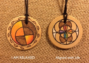 Healing medallion Sacral Chakra I am relaxed